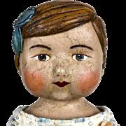 Artist Doll, Lora Soling Doll, OOAK doll, papier mache doll, Miss Carolina Dellis