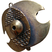 Modernist Tribal Bronze Pendant Brooch/Pin Pentti Sarpaneva Finland