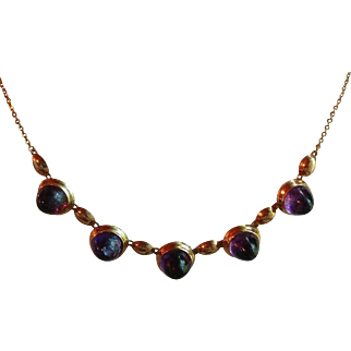 Kupittaan Kulta 14k Yellow Gold With Amethyst Necklace