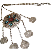 Vintage Afghani Folk Islamic Necklace