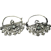 Antique Bedouin Filigree Pair of Nose Rings or Earrings