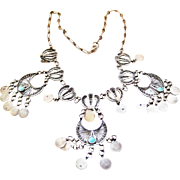 Vintage Egyptian Silver Necklace