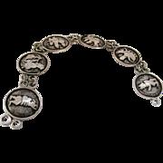 Vintage Hodja Turkish Folk Character Link Bracelet