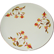 Hall Superior Autumn Leaf Cake Plate,