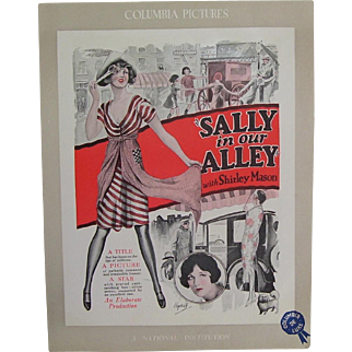 1927- 1928 Movie Poster Page Sally In Our Alley, Deco Artist Illustration Hopkins