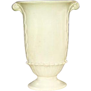 Rumrill White Vase No. 643 Red Wing