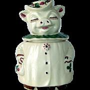 Vintage Shawnee Winnie The Pig Shamrock Cookie Jar