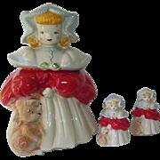 Royal China Goldilocks Cookie Jar Salt and Pepper Shakers