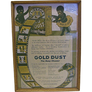 Gold Dust Twins Framed Magazine Page 1913