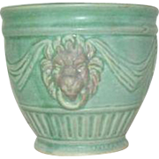 Weller Lions Head Small Green Planter