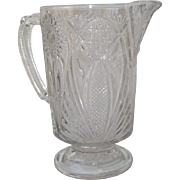 EAPG Glass McKee Bros. Pitcher, Daisy and Button Pattern