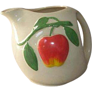 American Bisque Pippin Apple Pottery Pitcher