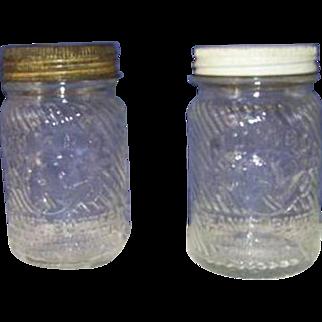 2 Vintage Peanut Butter Glass Jars, Jumbo The Elephant