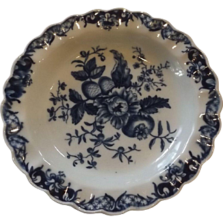 18th Century Worcester Dr. Wall Period Pine Cone Dish