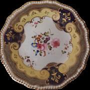 Antique English C. 1820's H & R Daniel Porcelain Plate Pattern #4058