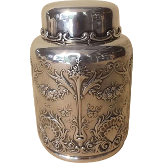 Beautiful Whiting Sterling Silver Tea Caddy