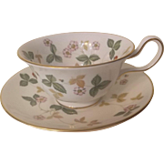 Wedgwood Wild Strawberry Cup and Saucer R4406