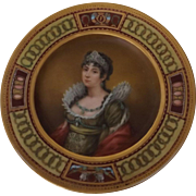 Antique French 19th Century Haviland Limoges Portrait Plate with Hand Painted Empress Josephine