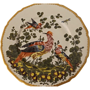 Set of 4 Chelsea Bird Dinner Plates Marked with Gold Bow Anchor