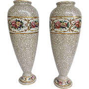 "Pair of English Winton Grimwades 11"" high Baluster Urn Vases"