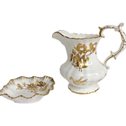 English Hammersley Rose Pitcher & Square Pin Dish with Harrod's Tag