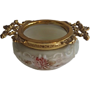 Marked Wave Crest Dish with Ornate Ormolu Fittings
