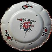 """18th C. French Faience """"de l'Est"""" Dish"""