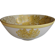 Vintage Japanese Chrysanthemum Bowl with Yellow Flowers