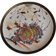 Mid Century Japanese Kutani Charger with Birds and Peonies