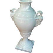 St. Clement Faience Ram's Head Vase