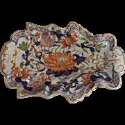 Marvelous Mason's Ironstone Water Lily Dessert Dish, Circa 1820's