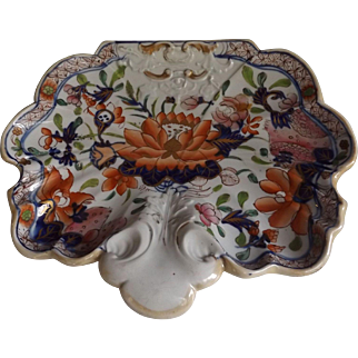 Antique Mason's Ironstone Shell Shaped Dessert Dish, circa 1820's