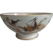 Antique Porcelain Waste Bowl with Hand Painted Kiwi Decoration