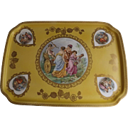 Lovely Porcelain Dresser Tray with Classical Accent
