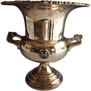 Vintage Silver Plate Champagne Bucket Golf Trophy