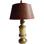 Sweet Heavy Brass Table Lamp with Wonderful Shade