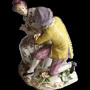 Antique Paris Porcelain Figurine of Lovely Couple