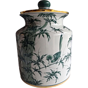 VIntage Maitland Smith Lidded Porcelain Container, circa 1999