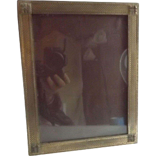Vintage A.B. Closson's Cincinnati Picture Frame with Velvet Backing and Easel
