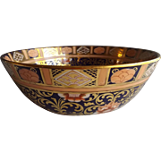 Exquisite 19th C. English Mason's Ironstone Bowl with Imari Colors and Gold Gilt
