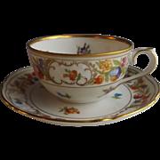 Schumann Empress Dresden Flowers Coffee Cup and Saucer