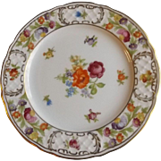 "Schumann Empress Dresden Flowers 10.75"" Large Serving or Dinner Plate"