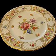 """10"""" Schumann Empress Dresden Flowers Dinner Plate"""