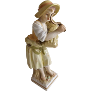 """Antique Marked KPM Figurine of a Young Girl...""""Sommer"""""""