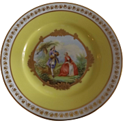 Pretty Marked Sevres Chateau St. Cloud Artist Signed Plate