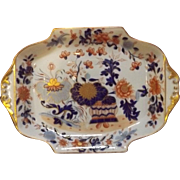 Early 19th C. Antique English Mason's Ironstone Dish with Imari Pallette