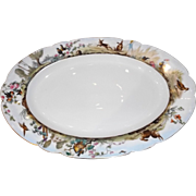 Most Darling 19th C. Haviland Limoges Platter with Bunnies and Birds