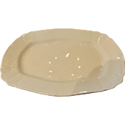 White Ironstone Johnson Brothers Platter with Decorative Edge