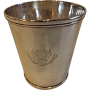 19th Century Antique Coin Silver Mint Julep Cup