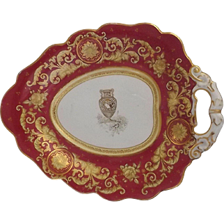 "19th Century English Dessert Dish with Impressed Mark ""Pearl"""